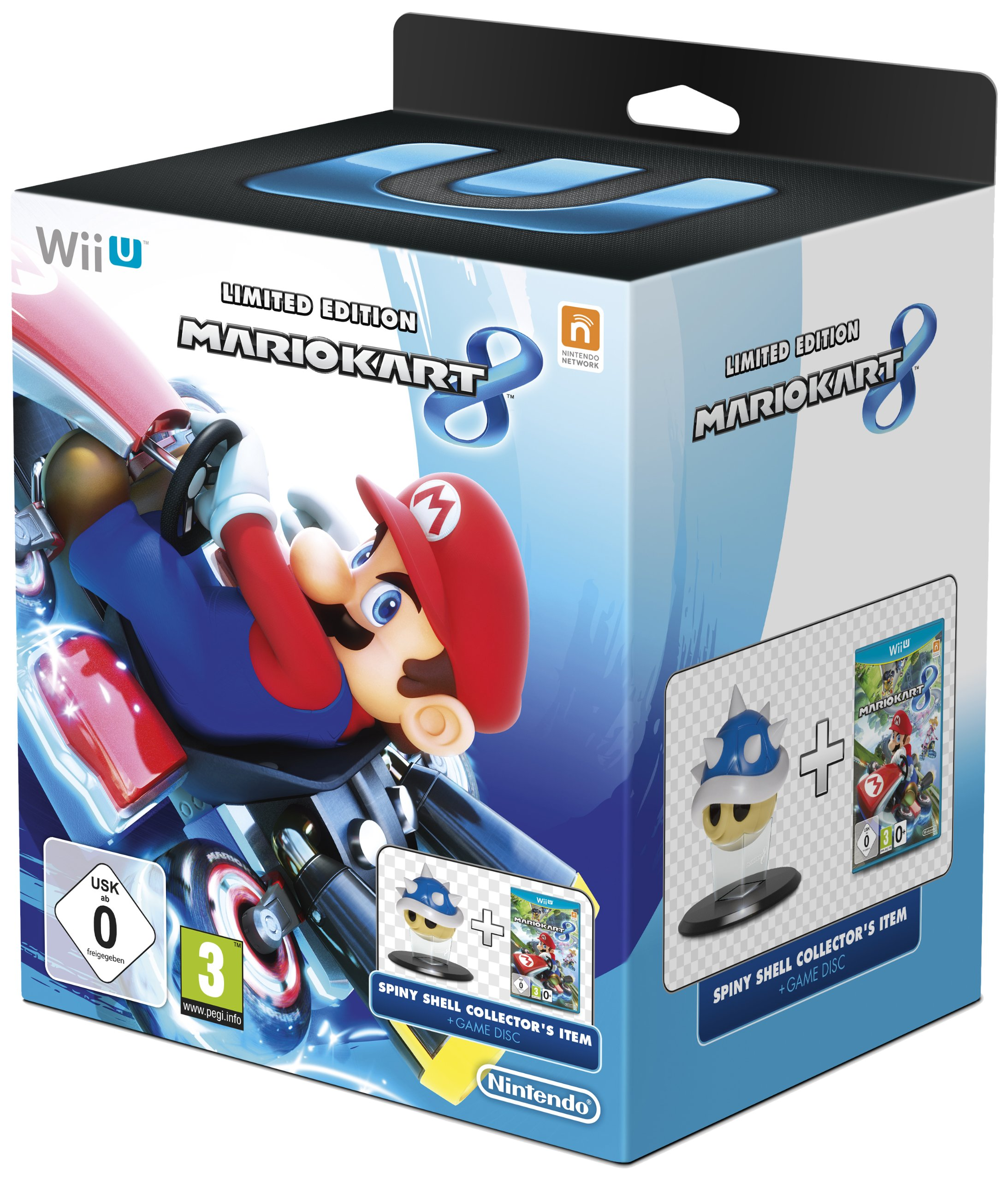 Mario Kart 8 Limited Edition Blue Spiny Shell Nintendo Wii U Game