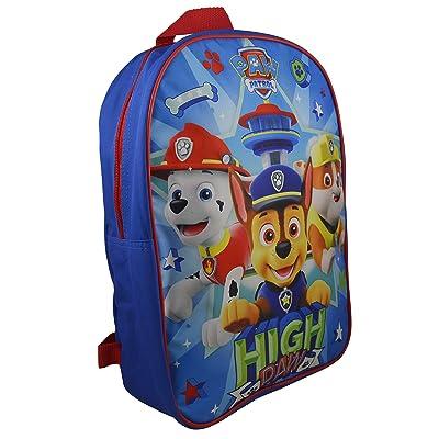 """Nickelodeon Paw Patrol Boy 15"""" School Bag Backpack: Clothing"""
