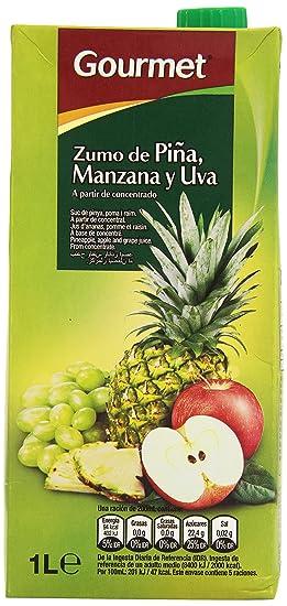 Gourmet - Zumo de piña manzana y uva - A partir de concentrado - 1 l