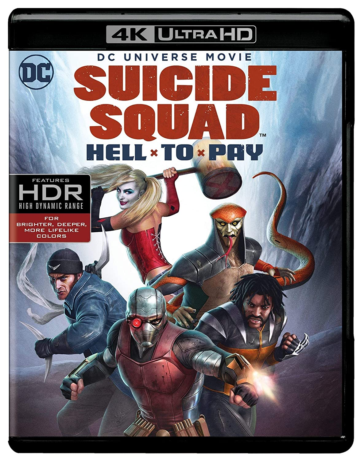Amazon Com Dcu Suicide Squad Hell To Pay 4k Uhd Blu Ray Alan Burnett Sam Liu James Tucker Sam Register Christian Slater Vanessa Williams Billy Brown Kristen Bauer Van Straten Gideon Emery Tara Strong Liam Mcintyre