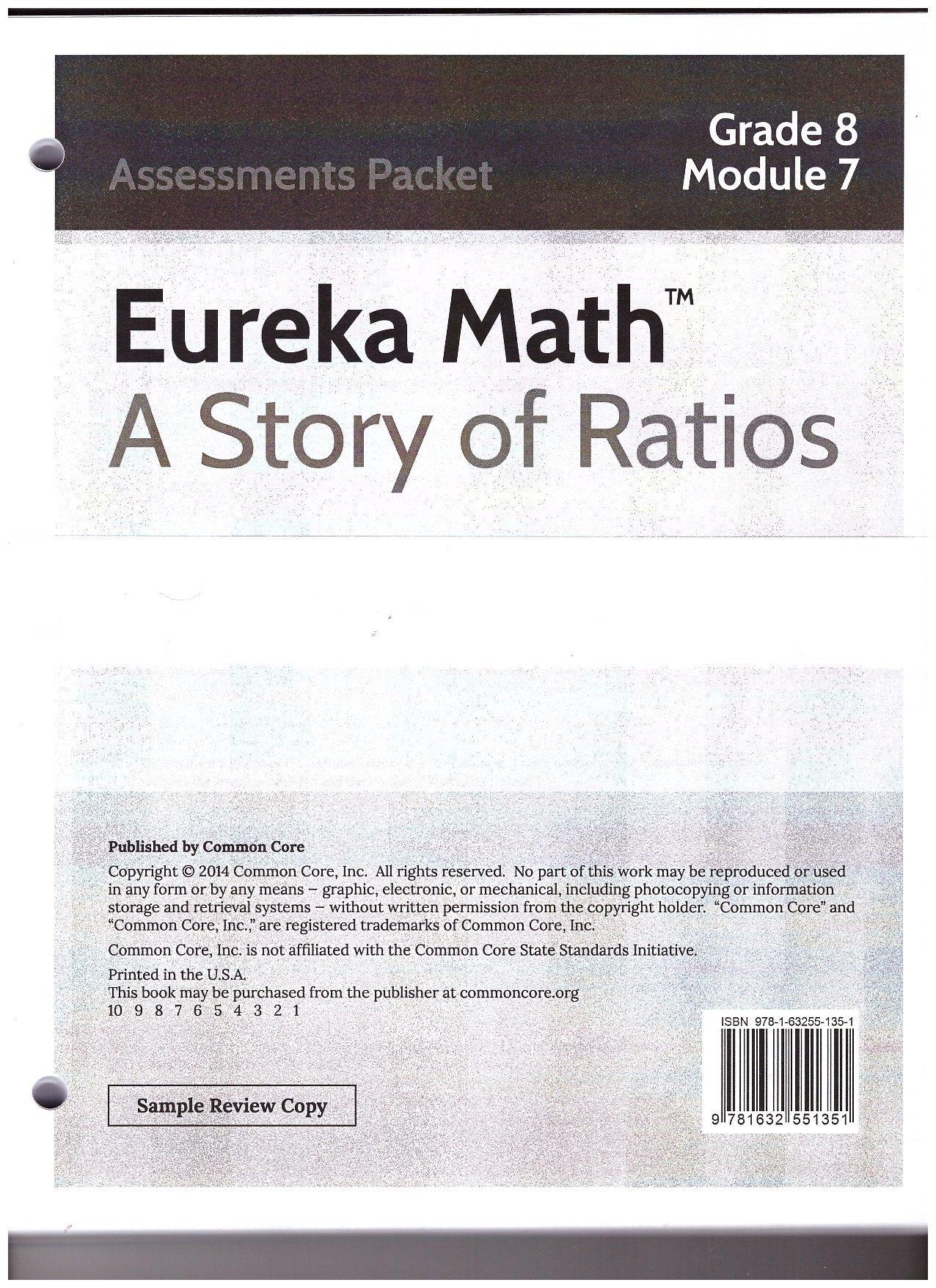 Eureka Math A Story of Ratios Grade 8 Module 7 Assessments