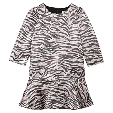 ad5fc7ee09ae Amazon.com  Kenzo Girl s Clarice Tiger Striped Dress  Clothing
