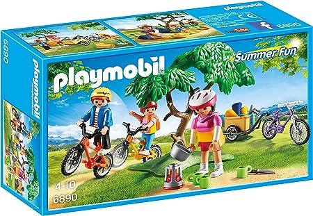 Incluye tres figuras y tres bicicletas,Tres sacos de dormir y árbol,Incluye tres figuras y tres bici