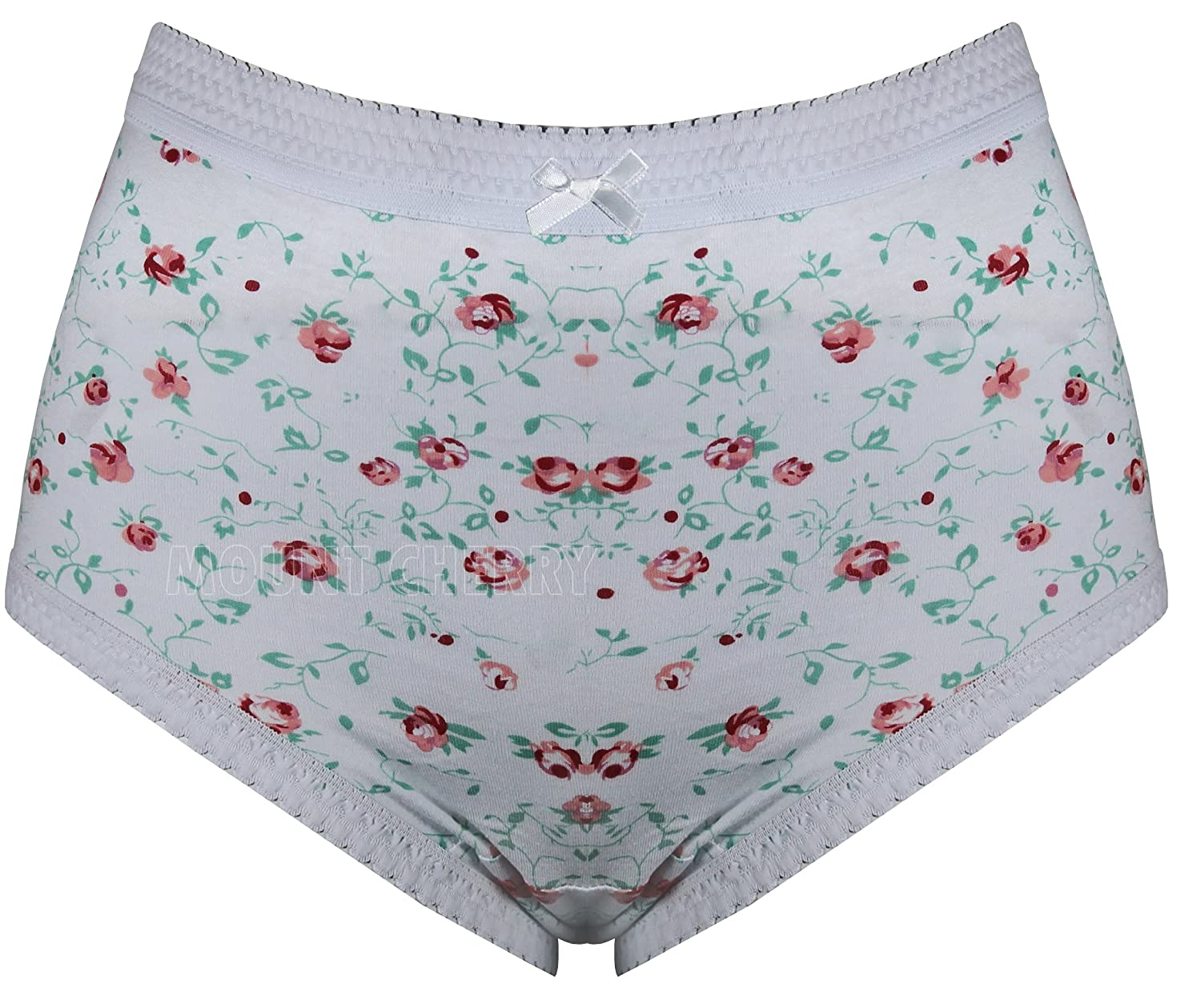 Womens Full Briefs Multi Pack Ladies Underwear Pure Cotton Floral ...