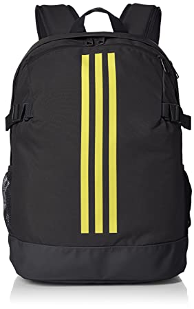 adidas Unisex s 3-Stripes Power IV Backpack, Carbon Shock Yellow, 16 x 32 8352241206