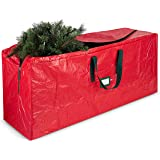 Artificial Christmas Tree Storage Bag - Fits Up to 7.5 Foot Holiday Xmas Disassembled Trees with Durable Reinforced Handles &