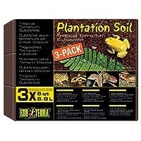 Exo Terra Plantation Soil Substrate, 3 x 8.8 Litre