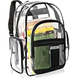 Clear Backpack Transparent See Thru School Security Heavy Duty Bookbag, MGgear