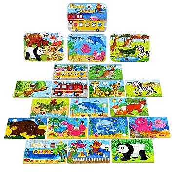 Bblike Puzzles Infantiles 3 Anos Animal Colorido Con Placa