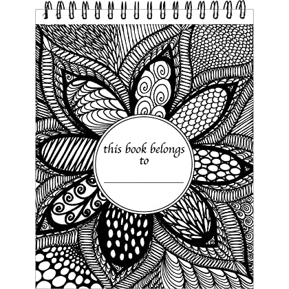 ColorIt Colorful Flowers Adult Coloring Book