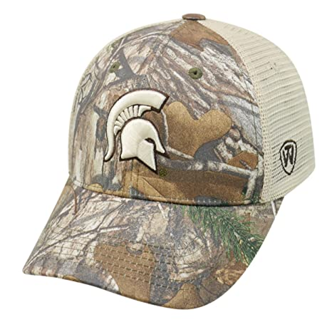 the latest a3ee2 bb56a Image Unavailable. Image not available for. Color  Top of the World  Michigan State University Realtree Camouflage Mesh Trucker Hat