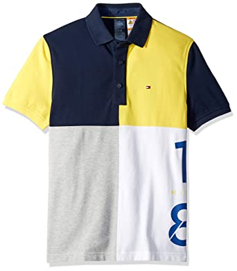 a519532e Tommy Hilfiger Men's Adaptive Polo Shirt with Magnetic Buttons Custom Fit  at Amazon Men's Clothing store: