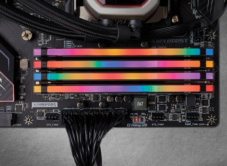 C16 Negro XMP 2.0 DDR4 2 x 16 GB Corsair Vengeance RGB Pro Iluminaci/ón LED RGB Kit de Memoria Entusiasta 32 GB 2666 MHz