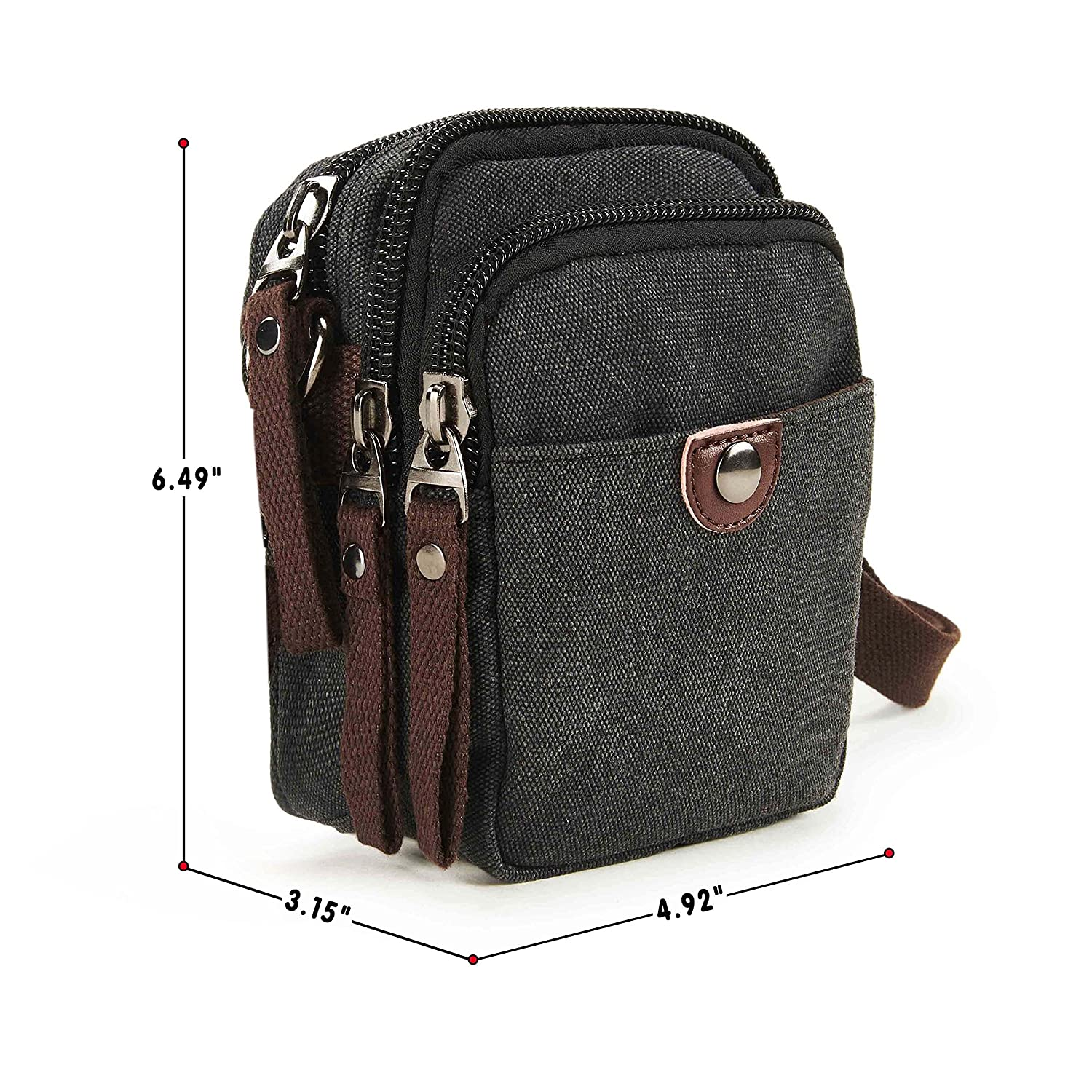 20dfae31f834 Wowelife Small Messenger Bag Vintage Canvas Shoulder Bag Tactical ...