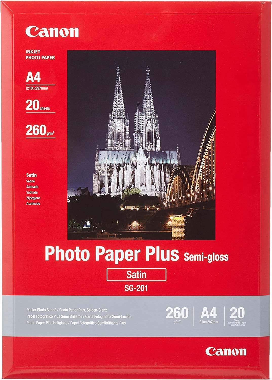 Canon 1686B021 - Papel fotográfico A4 (20 hojas, 260 gramos, semi ...
