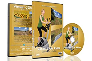 Virtual Cycle Rides DVD - Sunflower Fields - for Indoor Cycling, Treadmill and Running Workouts