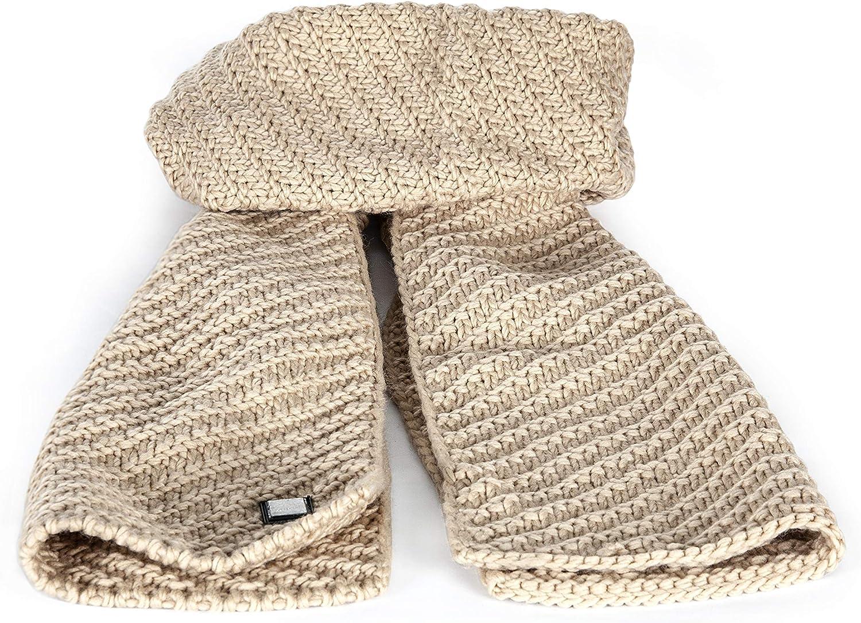 Equiline Strick Schal Virginia beige Creme Acrylwolle kuschlig warm