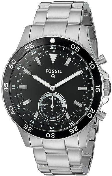 FOSSIL Q Crewmaster - Montre connectée hybride homme - Smartwatch sport en acier inoxydable - Compatibilité iOS et Android - Boîte et pile incluses: ...