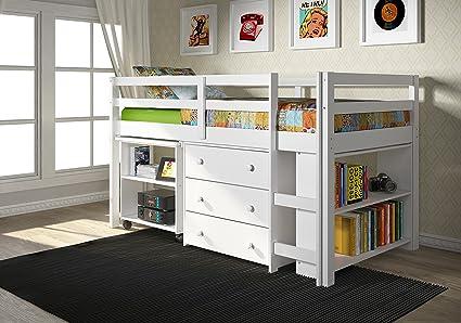 Donco Kids 760-W Low Study Loft Bed White & Amazon.com: Donco Kids 760-W Low Study Loft Bed White: Kitchen \u0026 Dining