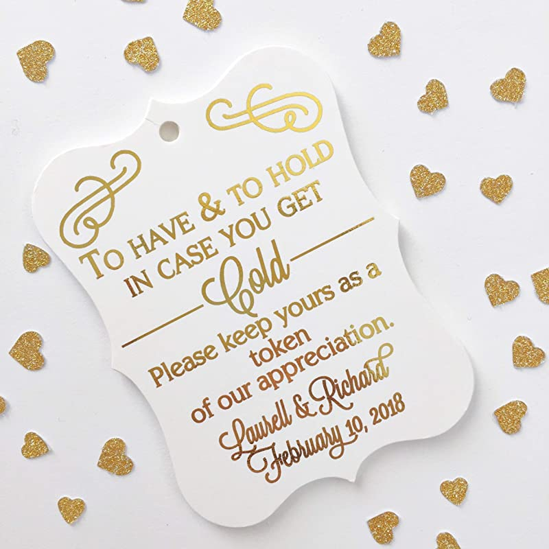wedding shower keep warm 1 34  x  3 14 Tags blanket tag To Have and to Hold in Case you get Cold my LARGE tag