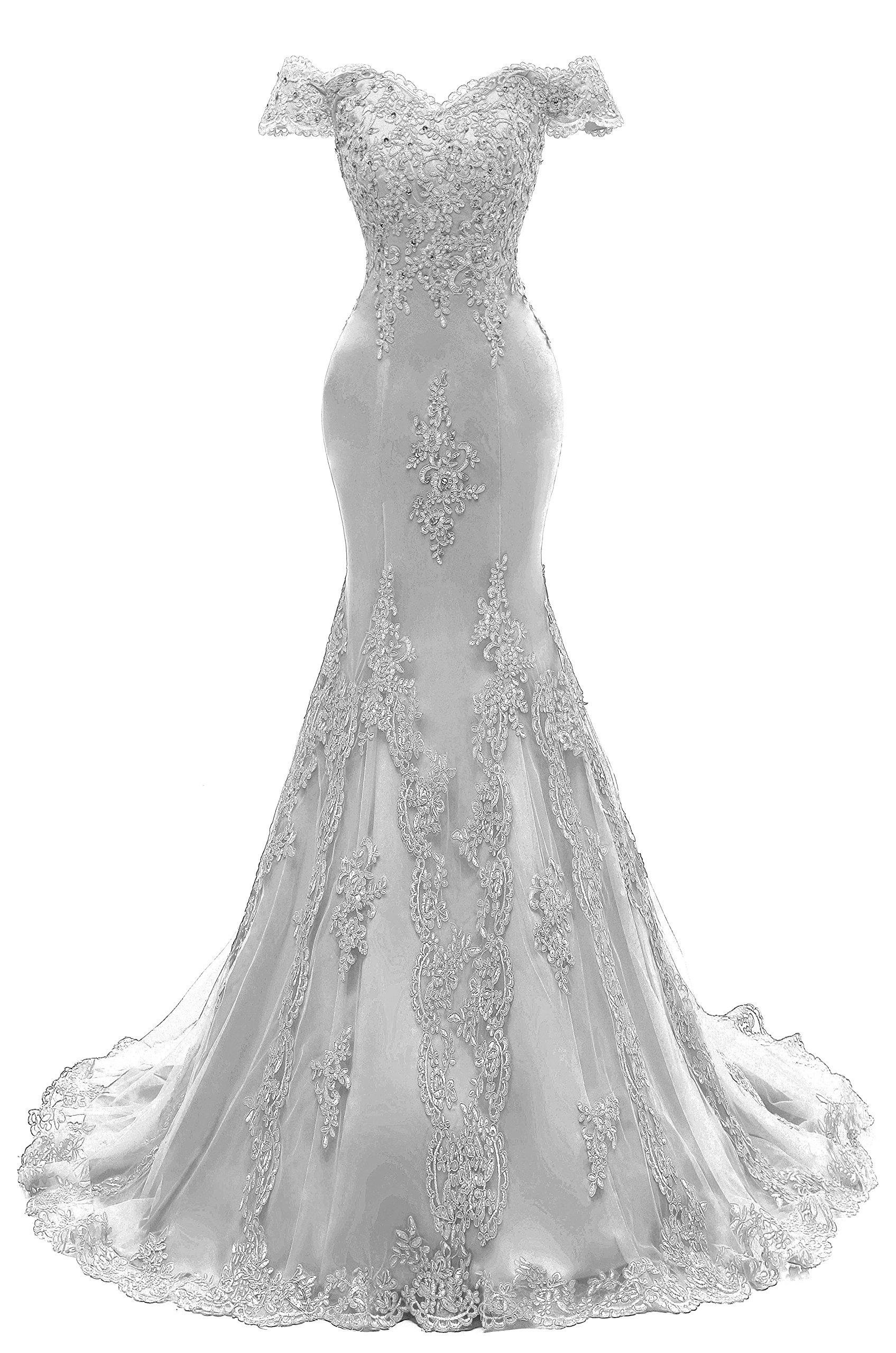 Bbonlinedress Long Chiffon Lace Ruched Cocktail Wedding