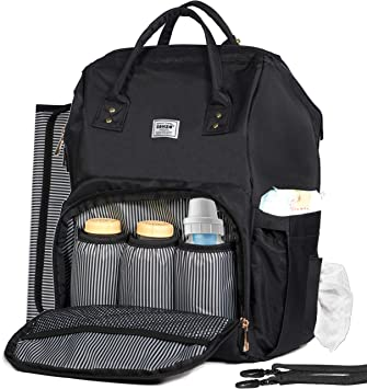 a6f77a602709 Diaper Bag Backpack by Zohzo - Baby Diaper Bags with Changing Pad and  Stroller Straps -
