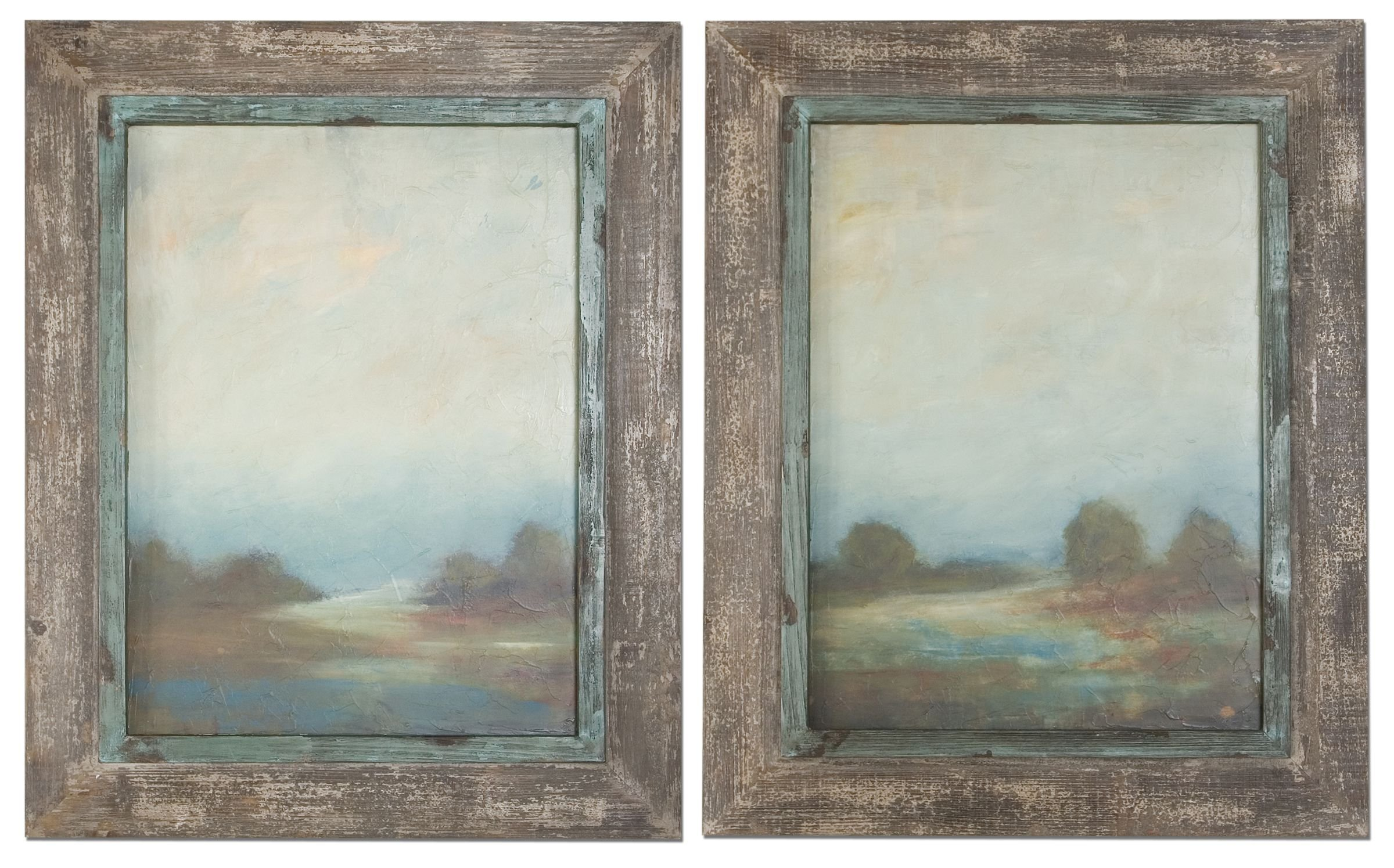 Artwork Reproduction Morning Vistas Framed Art Set Of 2 51076