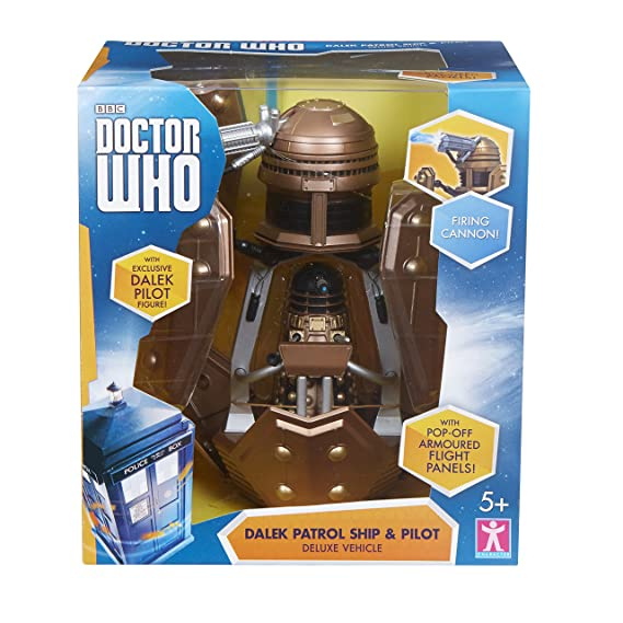 Amazon.com: Doctor Who Dalek Security Patrol Ship - Includes Dalek ...