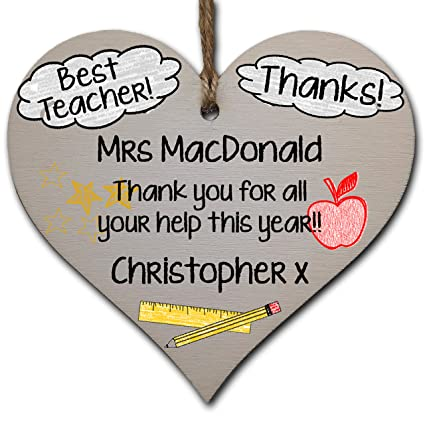 Teacher assistant Wooden Gift Tag