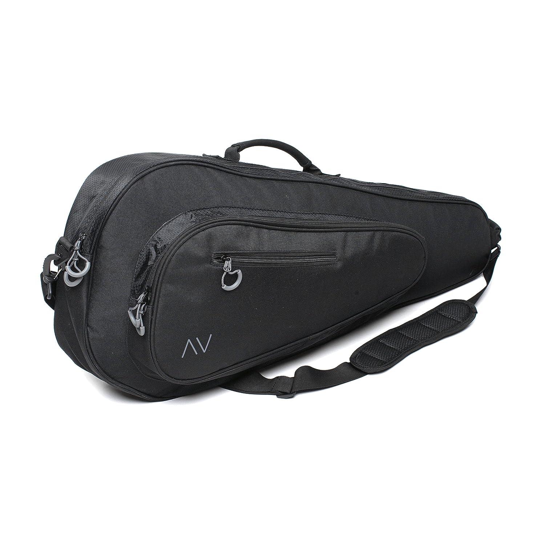 Premium Tennis Bag, 3 Racquet Holder in Black Gigavibe