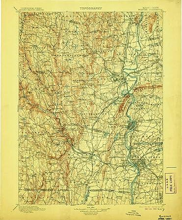 picture regarding Unf Printable Map identify : YellowMaps Holyoke MA topo map, 1:125000 Scale