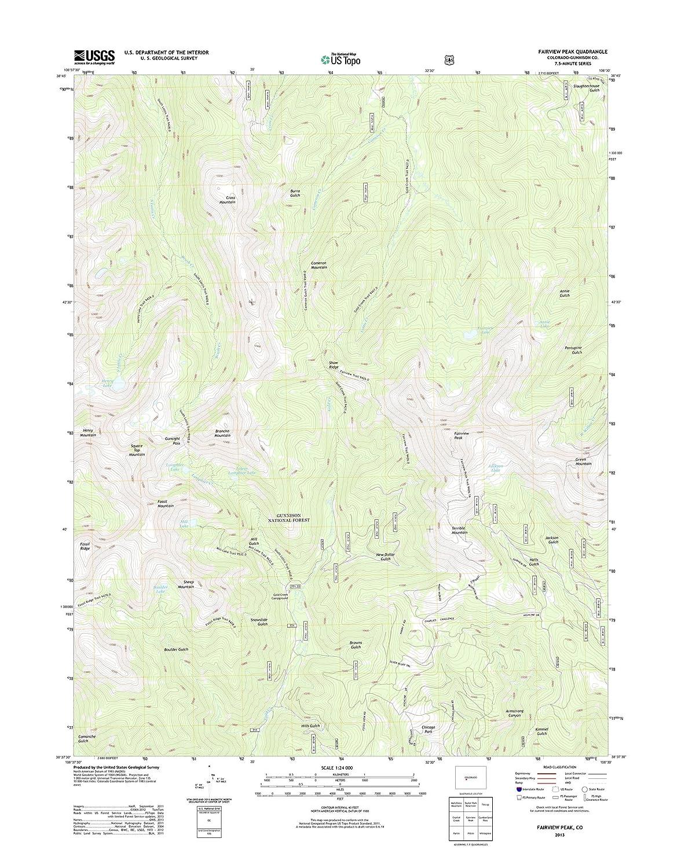 地形 – マップポスターFairviewピーク、Co TNM GEOPDF 7.5 X 7.5グリッド24000-scale TM 2011 19