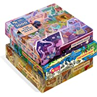Magic Puzzles 3-Pack: The Happy Isles, The Mystic Maze, & The Sunny City - 1000 Piece Jigsaw Puzzles from The Magic…