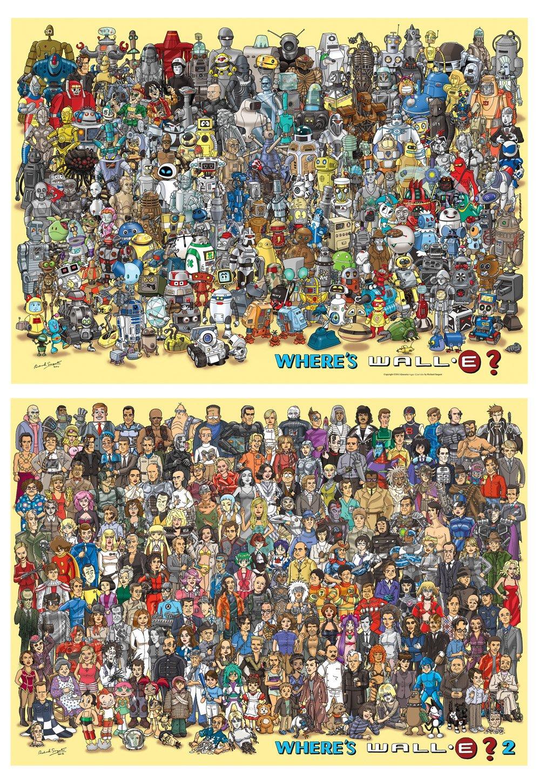 A1 tamaño dónde está wall-e? 1 y 2 Poster Set: Amazon.es ...