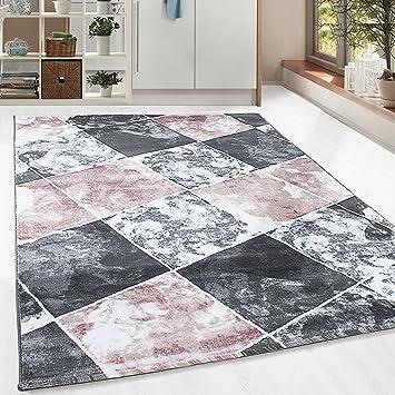 Amazon.de: Kurzflor Guenstige Teppich modern Patchwork Fliesen ...