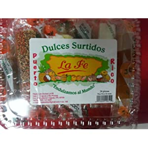 Assortment Sweets of Puerto Rico (Surtido De Dulces Tipicos De Puerto Rico) 24 Pieces