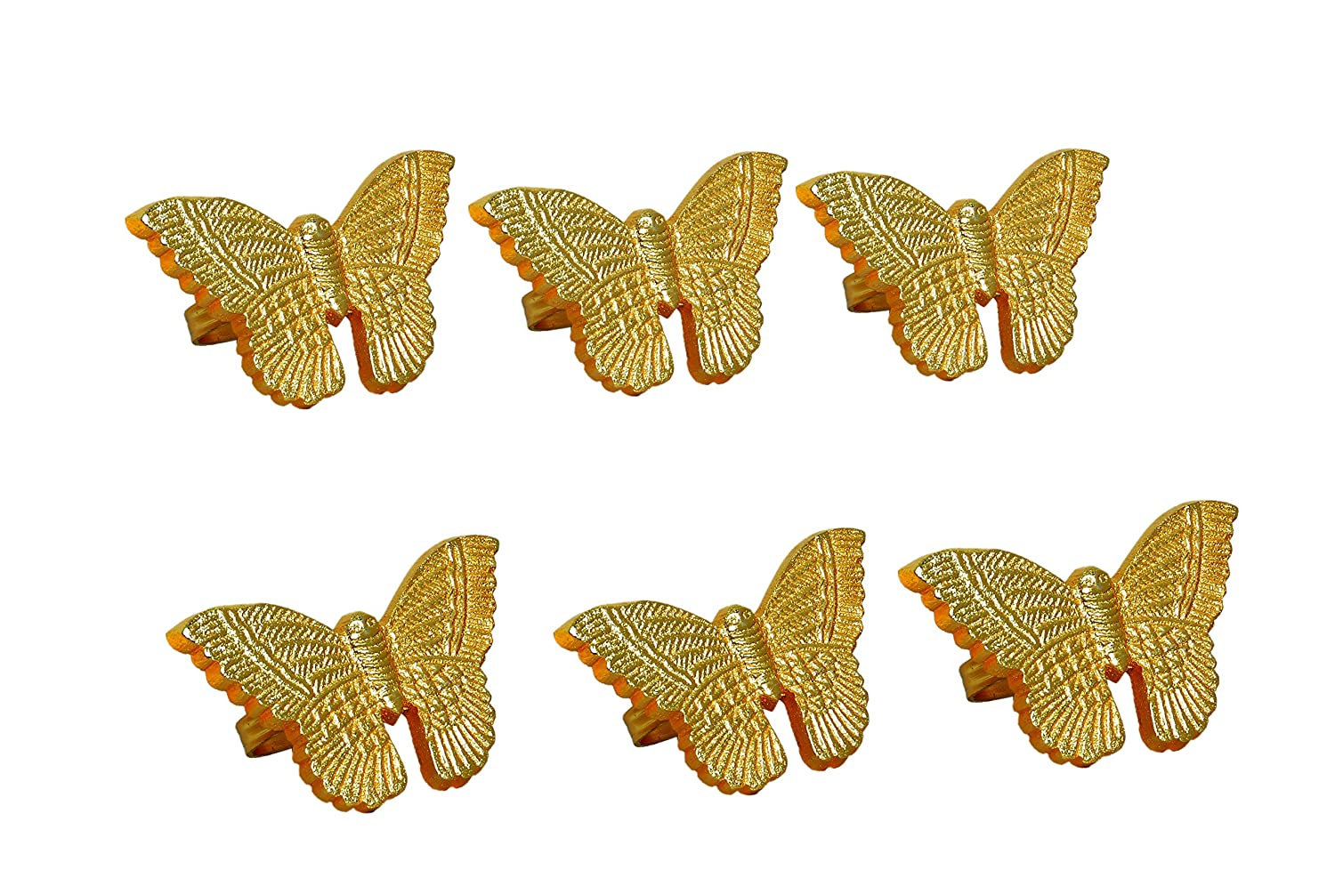 Set of 6 A Beautiful Emphasize to Your Dining Table d/écor Gold Handmade Butterfly Metal Napkin Rings for Wedding Party Decoration Dinning Table Occasion Everyday Family Gatherings