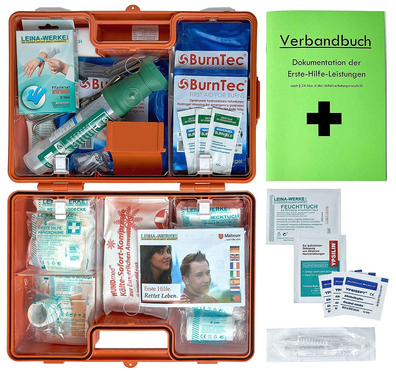 Erste-Hilfe-Koffer Gastro fü r Betriebe Din/EN 13157 inkl. Augenspü lung + Brandgel + detektierbare Pflaster + Hydrogelverbä nde HM Arbeitsmedizin