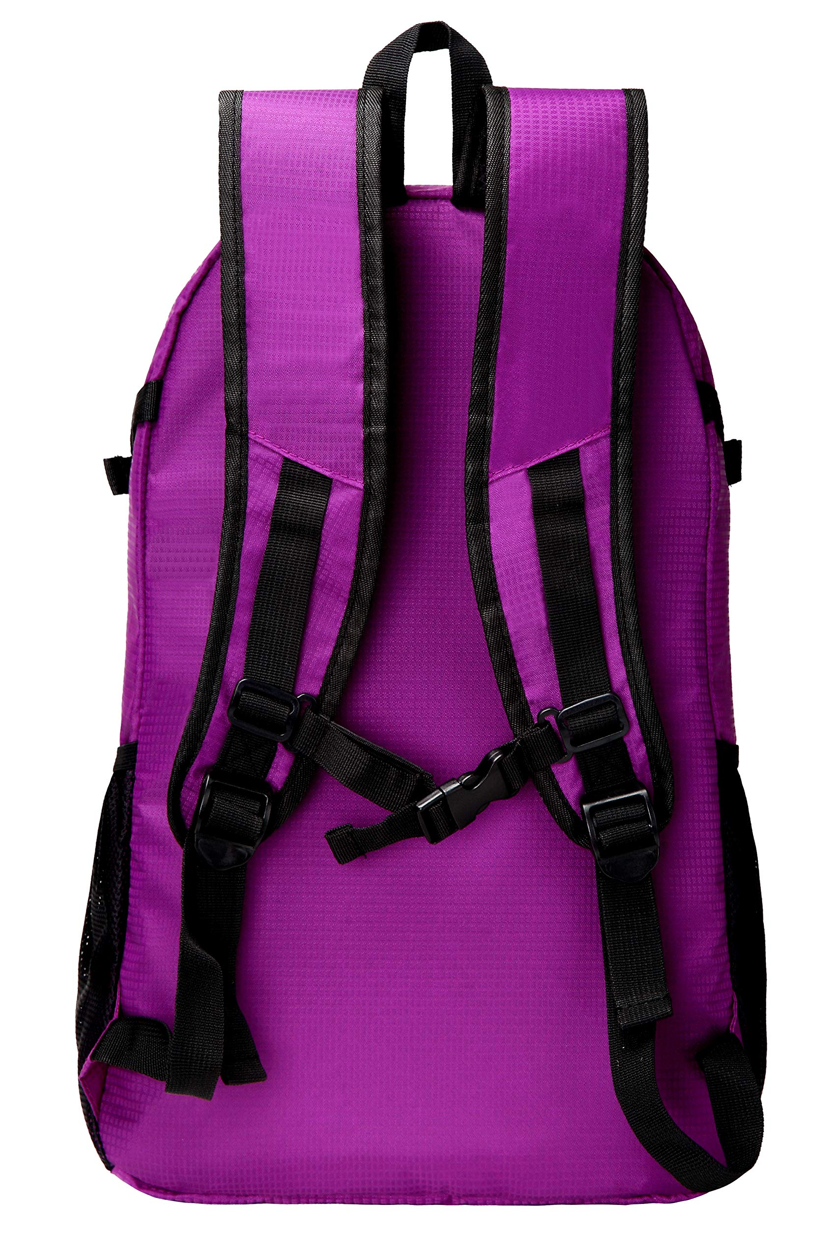 JINSOW 35L Lightweight Packable Hiking Backpack Daypack, Water Resistant Foldable Large Bags Travel Camping Outdoor Backpacks for Women Men Boys Girls Purple by JINSOW (Image #3)