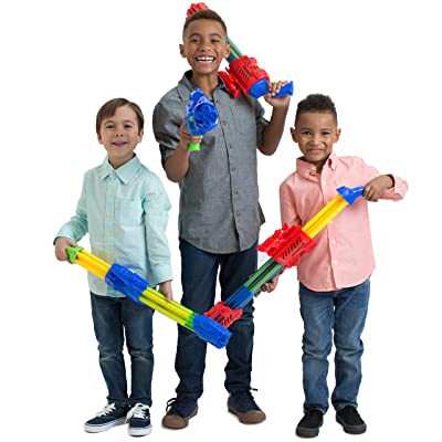 Boley 4 Pack 5 Barrel Water Soaker Blasters- Powerful Long ranged Water Guns - Great Soaker for Fun Endless Pool Water Parties: Toys & Games