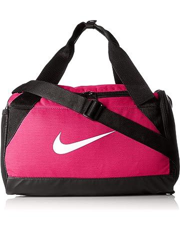 Nike Bolsa NK BRSLA XS Duff Rush Pink/Black/White, Adultos Unisex,