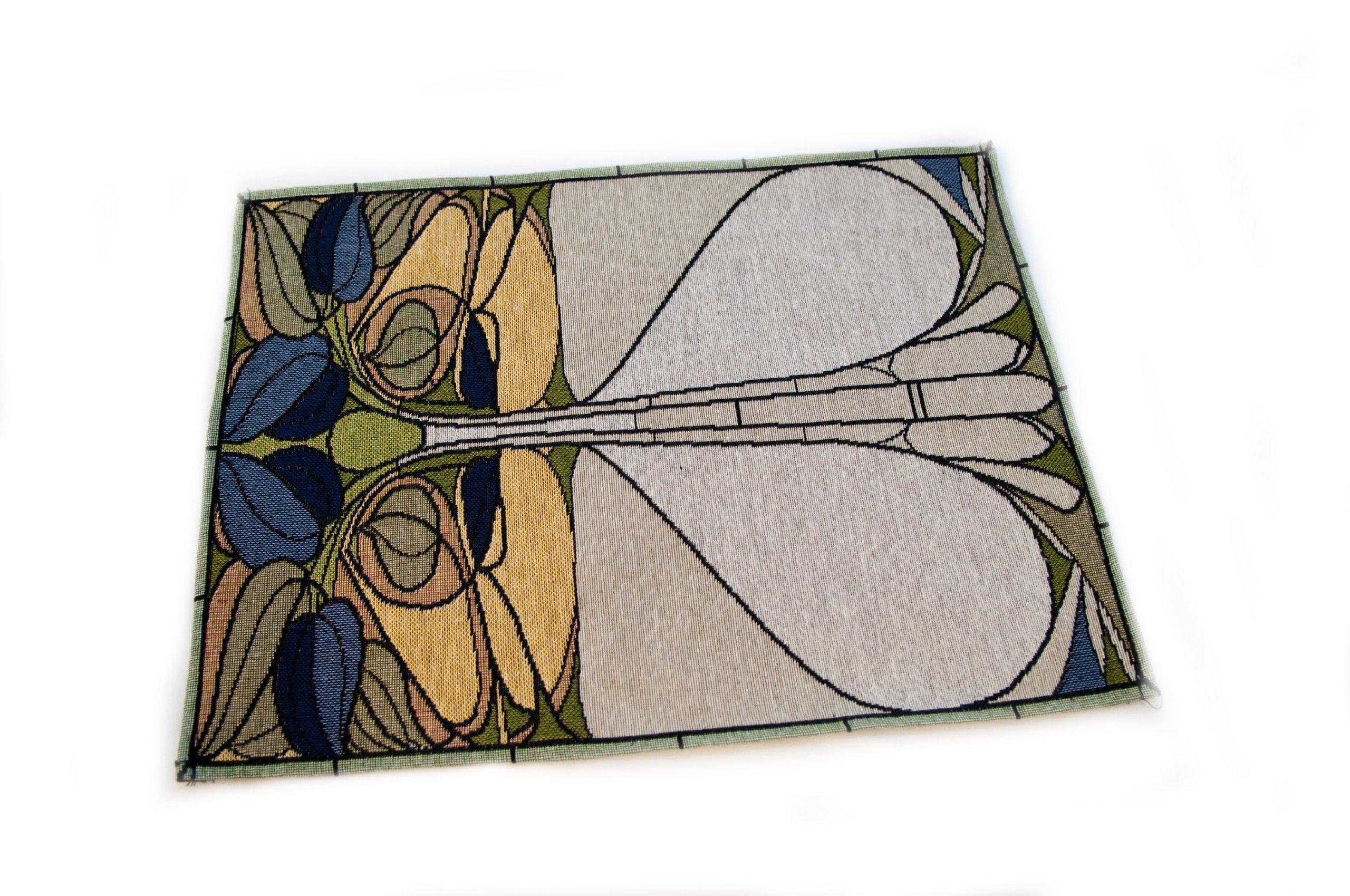 Rennie & Rose Collection Placemat, Art Nouveau Floral Window, Set of 4