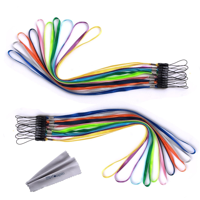 Video Spiel Schl/üsselanh/änger Schl/üssel ID Namensschild Ausweishalter Bundle 20/St/ück Colorful Hand Handgelenk//Hals Lanyards//Straps//Saiten Pack f/ür USB-Stick