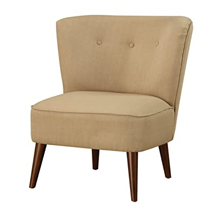 Emerald Home Jetson Gold Armless Accent Chair With Button Tufting, Seam  Welding, And Round