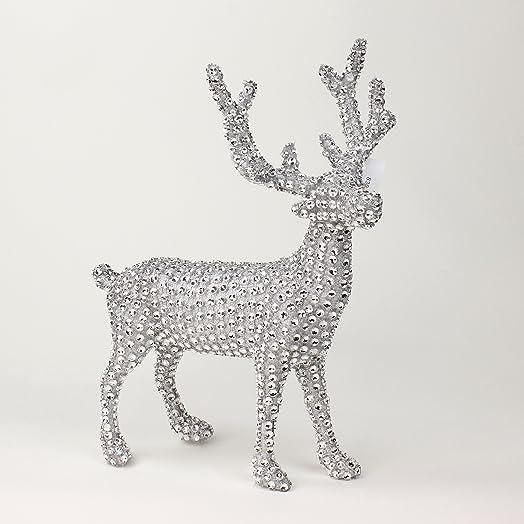 Diamond Reindeer Silver Diamond Glitter Sparkle Christmas Reindeer