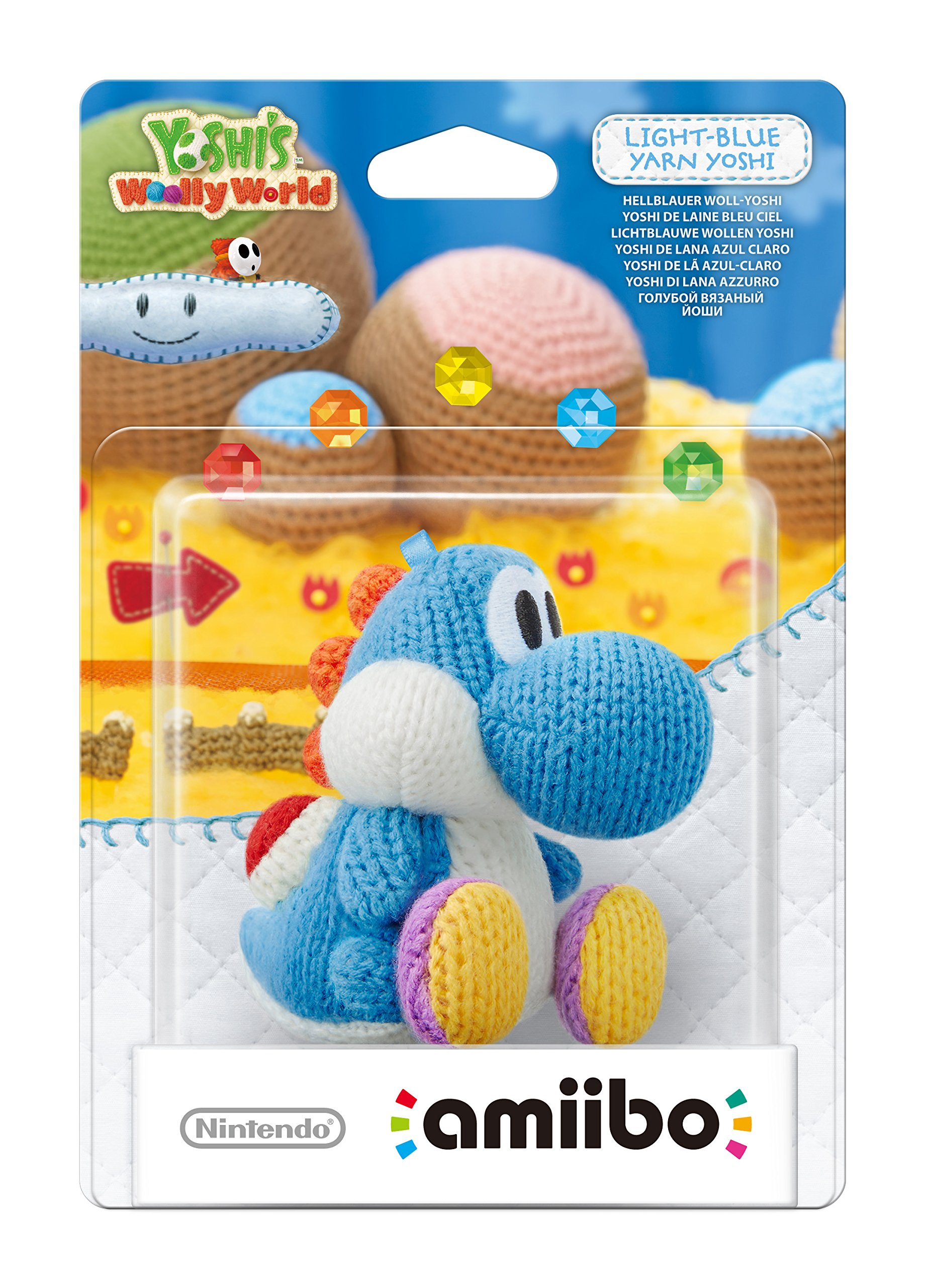 Light Blue Yarn Yoshi amiibo (Nintendo Wii U/3DS)