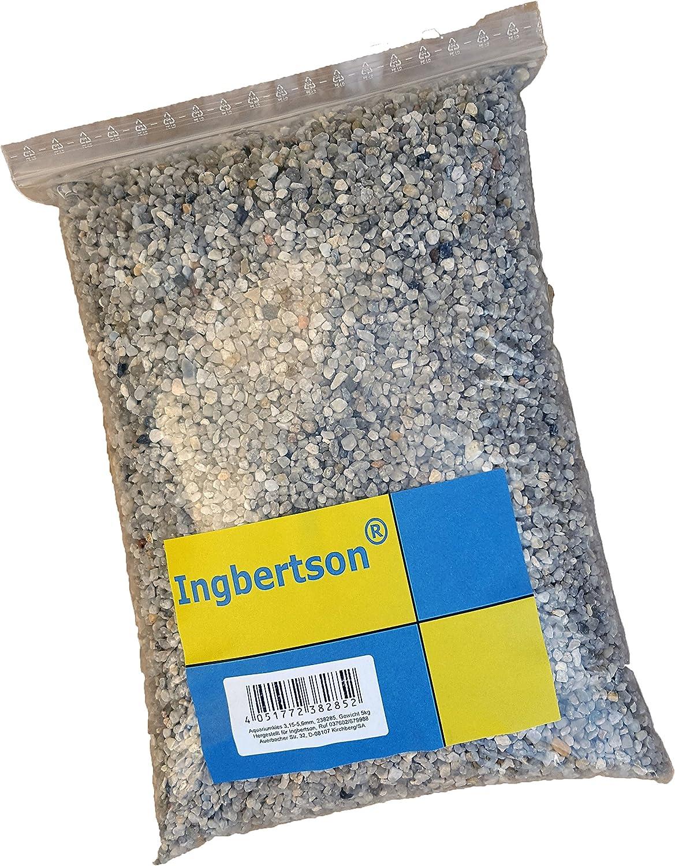 5kg Ingbertson/® Natural Color Aquarium Stones Pebbles Substrate Gravel 3,15-5,6 mm
