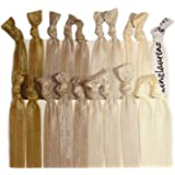 Kenz Laurenz Elastic Ponytail Holders, Pack of 20 - Blonde Ombre