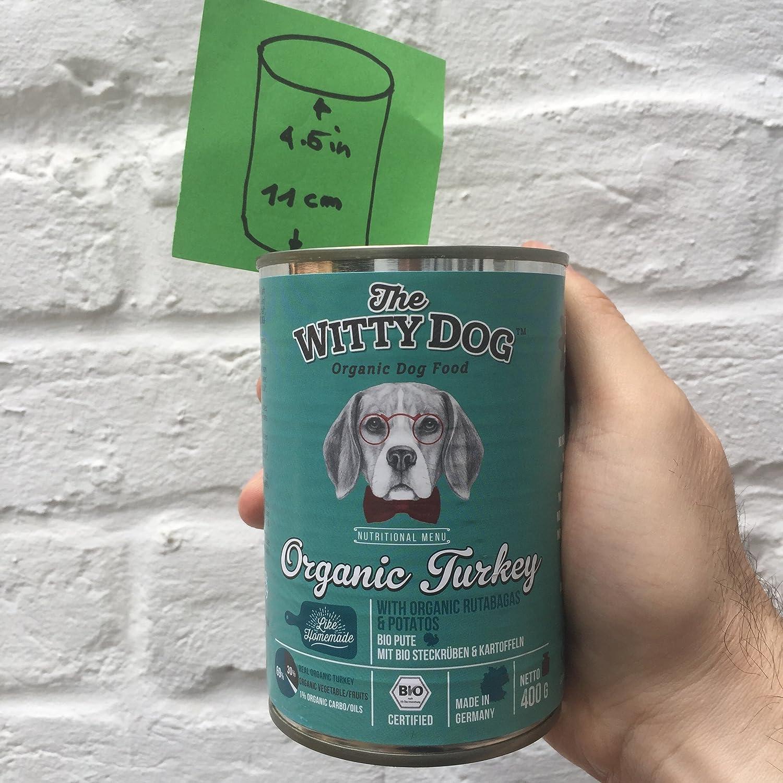 The Witty Dog, Comida BIO Húmeda Para Perros, Alimento Bio Completo: Pavo con Colinabos y Patatas, Latas 6x400 Gr. (Alimentos Natural para Perro: Puppy ...