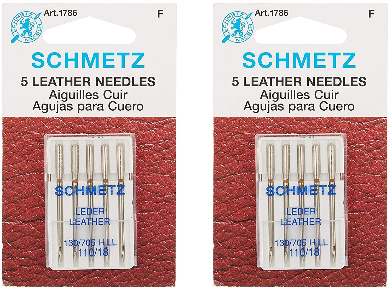 Amazon.com: Schmetz - Aguja para máquina de cuero, tamaño 18 ...